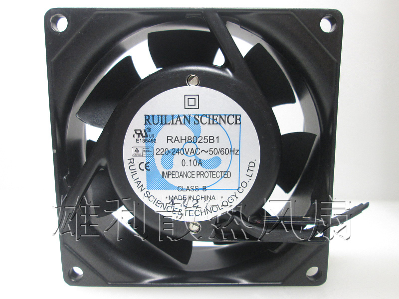 Free Delivery.RAH8025B1 220V 240V 0.10A 8CM 8025 cabinet ball cooling fan<br>
