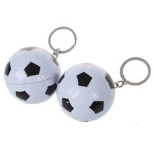 2pcs cute Pens Soccer ball point pen shape with Keychain(China)