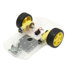 Hot Sale Motor Robot Smart Car Chassis Kits with Speed Encoder Toy For Arduino kit Cool Gift For Boy Kids(China)