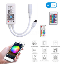 WiFi Music IR / RF Remote Smartphone WIFI LED RGB Controller RGBW Controller Android IOS for RGB RGBW RGBWW LED Light Strip 12V(China)
