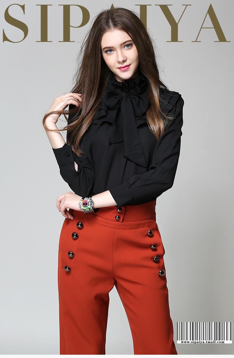 Long Sleeve Office Ladies Women Shirts (3)