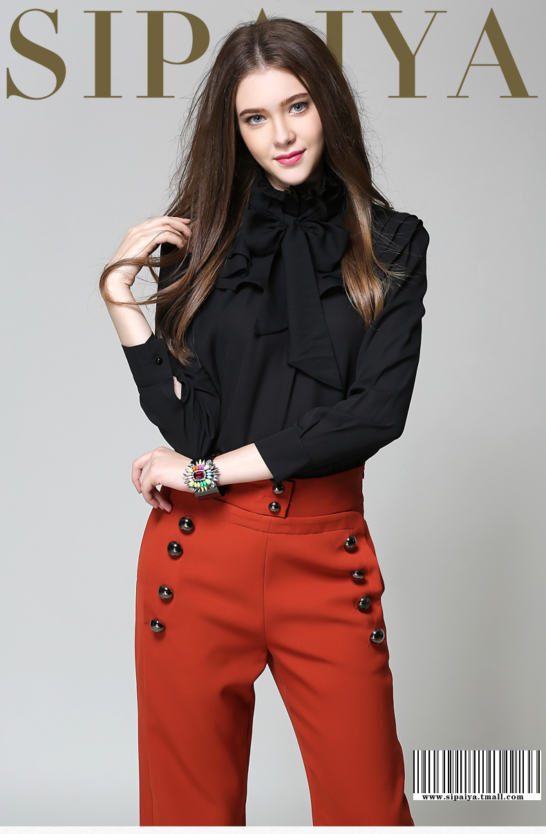 Long Sleeve Office Ladies Women Shirts (3)
