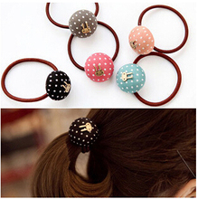 2015 New Arrival styling tools Mushroom head dot bunnies Hair ring accessories used by women young girl and children