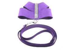 1pcs dogs cats fashion Rhinestone harness leash suit supplies doggy outdoor training harnesses lead sets pets accessories S M L
