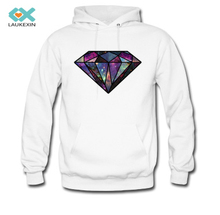 Mens Hoodies Diamond Clothings Fashion Persionalized Custom Graphic Casual Men's Hooded Sweatshirts High Quality Plus Size S-3XL(China)