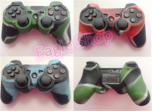 High Quality 3 Colors Camouflage Silicone Cover Case For PS3 Controller Joystick Protective Grip Cover Gel Rubber