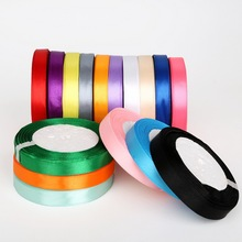High Quality 13mm Satin Ribbon for DIY Bow Craft Decor Wedding Party Decoration Gift Wrapping Scrapbooking Supplies 25 Yards