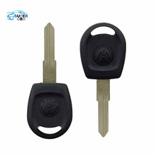 30pcs/lot Free shipping for blank transponder car key shell case cover for Vw Passat (can install chip) With Logo