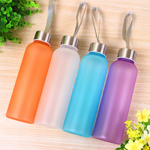 600mL Water Bottles Plastic Frosted Leak-proof Portable Water Bottle for Outdoor Sport Running Camping High Quality