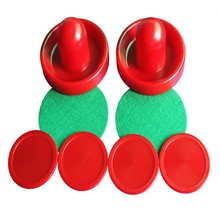 Air Hockey 96mm Goalies & 63.8mm Puck Felt Pusher mallet Adult Table games entertainments toys(China)