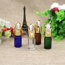 Free Shipping 5ml Empty Glass Perfume Pack Dropper Bottles Top Grade Mini Parfume ESSential Oil Sample Packaging Containers(China)