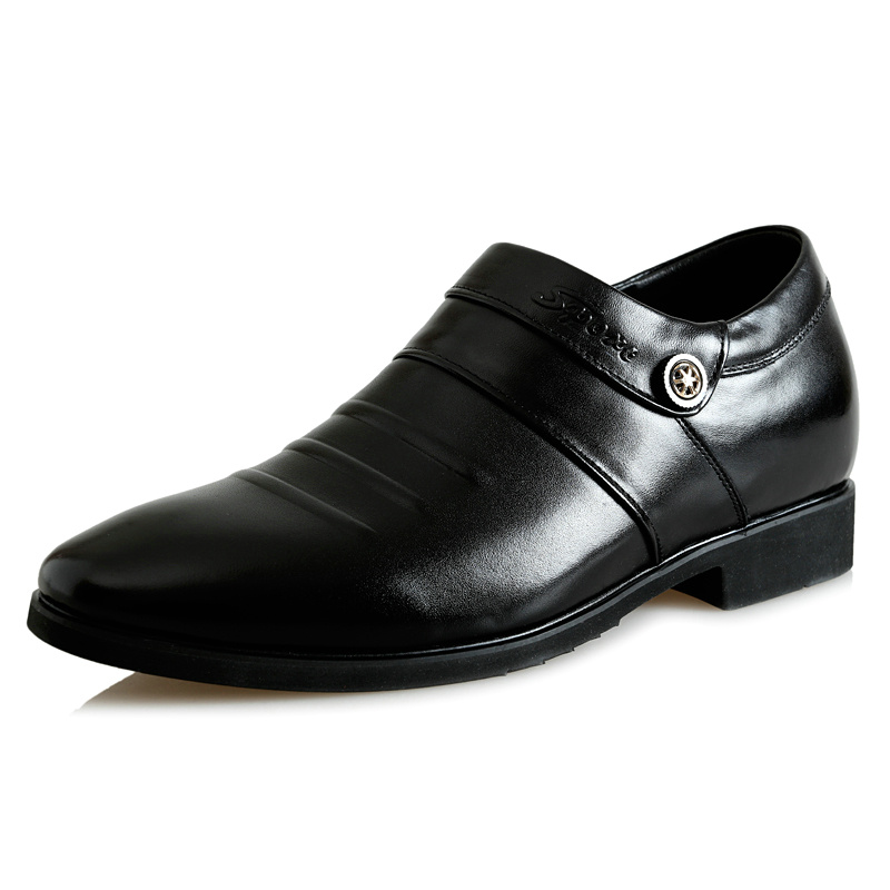 2.36 Inches Taller-Genuine Leather Heightening Elevated Loafer Formal Business Wedding Shoes<br><br>Aliexpress