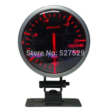 "New Universal Gauge 60mm 2.5"" Def* BF Advance Black Face Acuum Meter Red & White Light Vacuum Gauge"