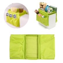Top Selling 5 Pockets Sofa Chair Settee Couch Table Top Arm Rest Organizer Tray Hanging Storage Bag Organizers