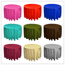 "Free shipping 5PC/lot Satin Table Cloth Round Satin Tavle Cover for Banquet Wedding Party Decoration Supply 180"" High Quality"