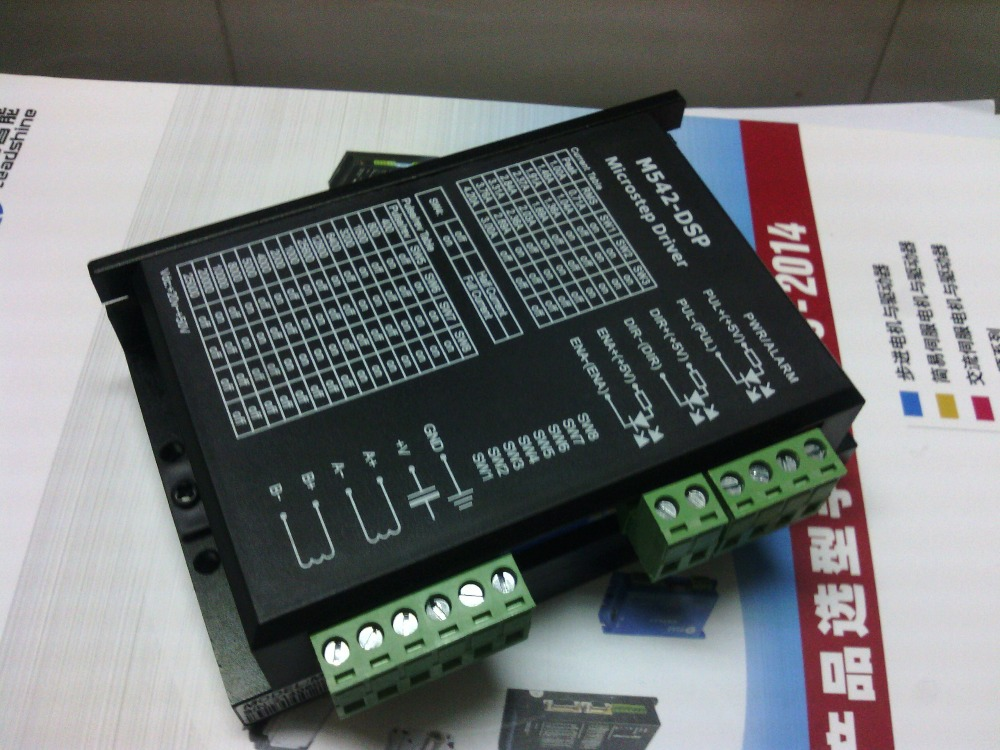 Whole 6 pcs a lot stepper drive M542-DSP work 24V-50VDC out 1.0A-4.2A 2-phase stepper motor driver CNC stepper system<br>