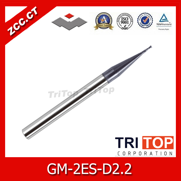 5PCS/LOT  carbide tools ZCC.CT GM-2ES-D2.2 Cemented Carbide 2-flute flattened end mills with straight shank<br><br>Aliexpress