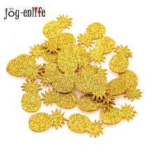 JOY-ENLIFE 20pcs pineapple confetti table scatter Hawaii Beach party supplies glitter gold Tropical Luau Party favor