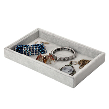 1x Retail Portable Jewelry Store Case Velvet Jewelry Display Tray Showcase Bracelet Organizer Storage Container Ring Box