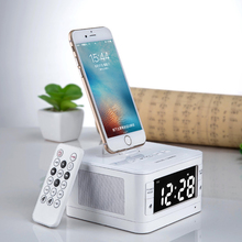 ALTRIS T7 Portable Audio FM Radio Alarm Clock Wireless Bluetooth Speakers For iphone 5 7/ipod/USB phone charger Dock Speakers