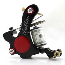 Tattoo machine Free Shipping! Hot Professional Coil Tattoo Machine Retail or Wholesale 10 Wrap Coils Machine
