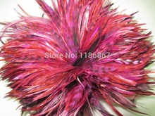 100 PCS/lot deep purple  5-6 inch hair extension feather BARRED ROOSTER GRIZZLY FEATHERS craft chicken plumes KX13