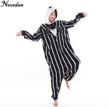 New Nightmare Before Christmas Jack Skellington Skeleton Anime Pajamas  Pyjama Cosplay Costumes Adult Onesies Halloween Costume 31f78a339