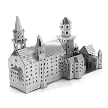 New High Quality 3D Neuschwanstein Metallic Steel Nano Intelligence Miniature Puzzle Model No Glue Children Toy Gift Decoration