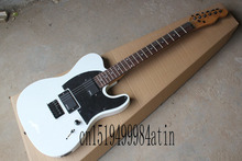 Jim Root Telecaster Custom Black Pick Guard Emg Pickups Thinline Neck Electric Guitar   @23