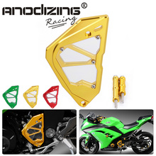 CNC Motorcycle  For  Kawasaki Ninja 300 Sprocket Chain Guard Accessories Left Engine Front Sprocket Chain Guard Protection Cover