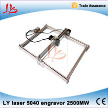5pcs/lot 2500MW DIY Violet 5040 Mini Laser Engraving Machine Picture CNC Printer 50*40CM Working Area