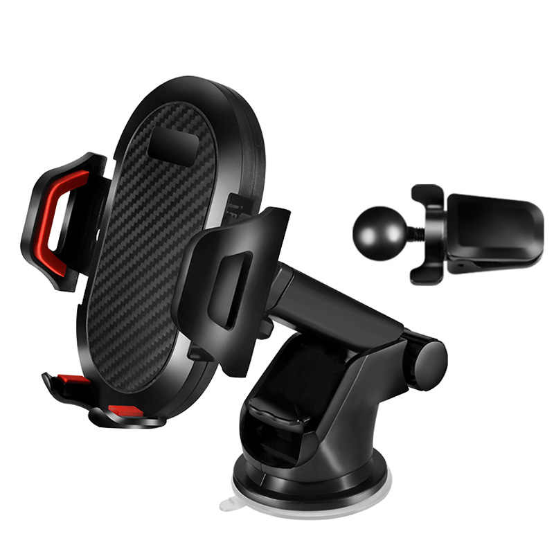 1pcs 360 Degree Rotating Mobile Phone Holder Adjustable Car Mount Stand Car Holder For Samsung Galaxy S10 Plus Lite
