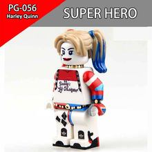 Single Sale Harley Quinn Batman Superheros Building Blocks Minifigs DC Early Learning DIY Toy Brick Action figures For Children