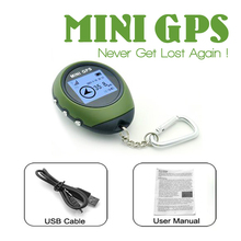 Mini GPS Receiver Navigation Handheld Location Finder USB Rechargeable Electronic Compass for Outdoor Hiking Travelling(China)