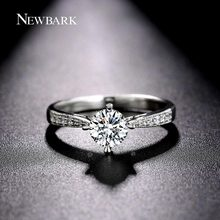 NEWBARK Delicate Design Ring Silver Color With CZ Forever Wedding Rings For Women Jewelry