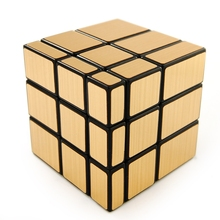 LeadingStar Golden Mirror Square Speed Cube Puzzle Golden Black zk15(China)