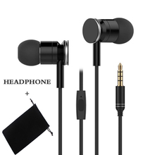 Original EP231 metal Bass earphones 10MM dynamic headset With Mic for iPhone 6 5s xiaomi mi mix samsung huawei oppo phones mp3