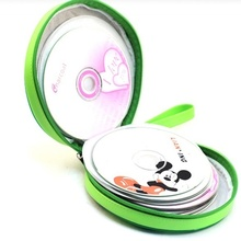 Real Watermelon Texture CD Holder Sheet DVD Case Storage Wallet Disc Organizer Watermelon Shape 24page BS
