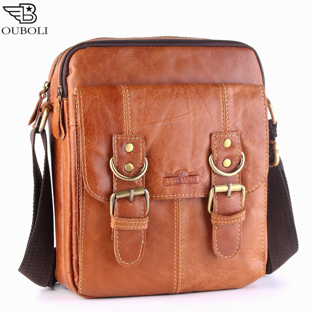 Casual Men Shoulder Bag Genuine Leather Messenger Crossbody Bags Man Small Vintage Mens Bags Zipper Male Small Bag Flap New <br><br>Aliexpress