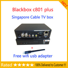 DHL Singapore cable box Starhub black box Blackbox c801 plus Support N3 Watch HD Channels pgrade from singapore blackbox c801 hd