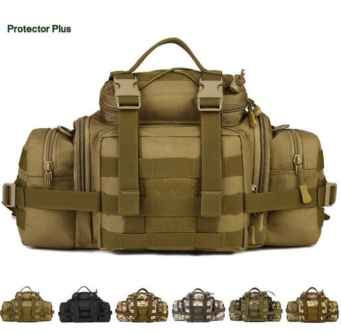 Protector Plus Multi-purpose large Waist packs Nylon Camo Outdoor Tactical Shoulder bag Climbing Travel Camping Hunting Cycling<br>