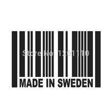 Buy HotMeiNi Made Sweden Barcode Car sticker JDM 8 Colors Vinyl Decal euro dtm Truck Bumper amg Window Drifting Italy for $1.16 in AliExpress store