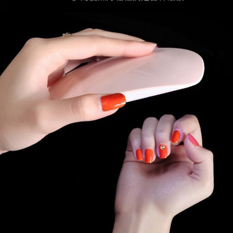 1pcs 6W UV Nail Lamp Portable Nail Treatment Dryer LED Lamp With Timer Perfect Thumb Solution Polish Gel Curing Nails Art Tools 10