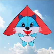 free shipping high quality new design blue cat kites with handle line outdoor toys delta kites weifang entertainment designer