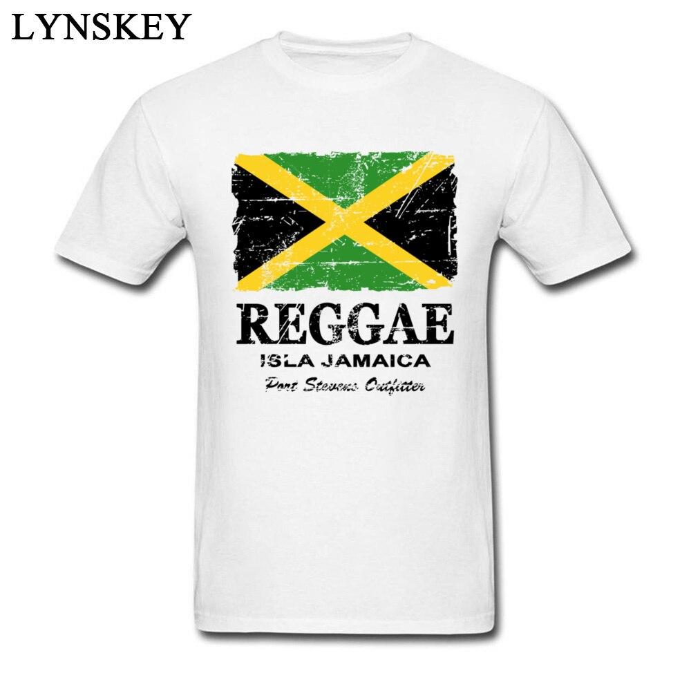 T-Shirt Normal Short Sleeve Funny Crew Neck 100% Cotton Tops T Shirt Group Summer Fall Reggae Jamaica Flag Tee Shirt for Boys Reggae Jamaica Flag white