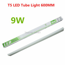 2X PVC Plastic 9W T5 LED Tube Light 110V 220V 240V 60CM Led T5 Lamp Led Wall Lamp Warm/ White Led fluorescent T5 for Living Room