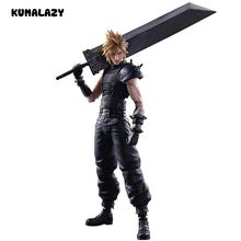 Play Arts Kai Cloud Strife 2nd Final Fantasy Figure Play Art Final Fantasy Cloud PA 27cm PVC Action Figure Doll Toys Kids Gift(China)