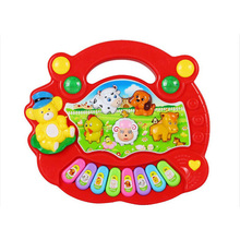 Random Color Baby Electronic Toys Developmental Cartoon Animal Farm Piano Toy Musical Instrument Educational Toy for Kids