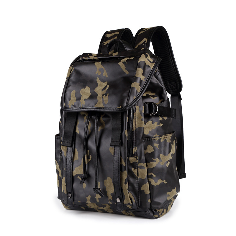 New camouflage style mens backpack, stylish travel package, large capacity<br>