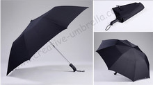120cm 3 persons two fold auto open hex-angular 50T steel windproof anti-thunder fiberglass mini golf umbrellas sport parasol